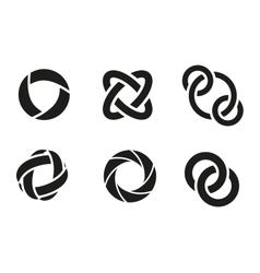 Technology orbit web rings vector