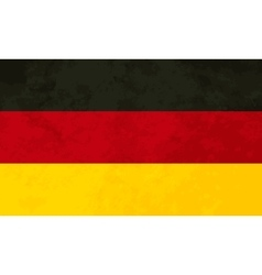 True proportions Germany flag with texture vector image vector image