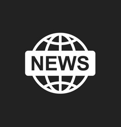 World news flat icon news symbol logo vector