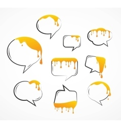 Dropping honey from speech bubbles vector