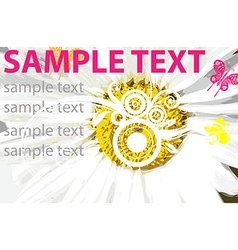 Sunflower backdrop with text space vector