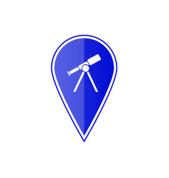 blue map pointer with telescope vector image