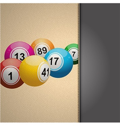 Bingo agenda on cream leather vector