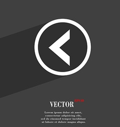 Arrow left way out icon symbol flat modern web vector