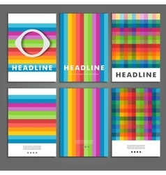 Set six book covers background of colored squares vector