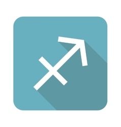 Square sagittarius icon vector