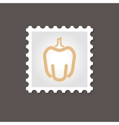Pepper stamp outline vector