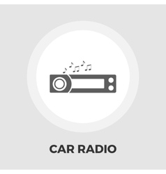 Car radio flat icon vector