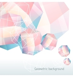 Abstract background with geometric crystals and vector