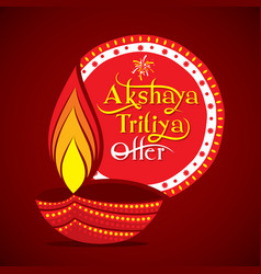 Akshaya tritiya festival offer template vector