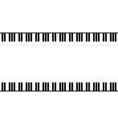 Black and white piano template vector