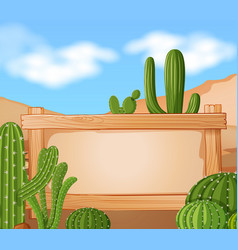 Border template with cactus in background vector