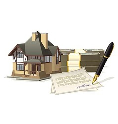 Buying and selling a home vector image vector image