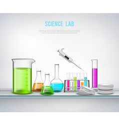 Chemical equipment on shelve composition vector