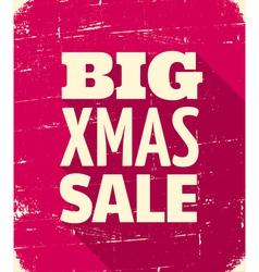 Christmas sale 2013 retro style poster design vector