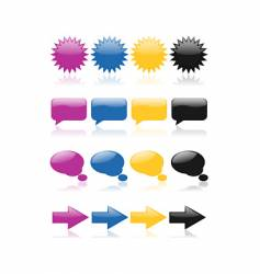 colorful glossy web icons vector image