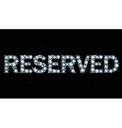 Diamond word reserved vector
