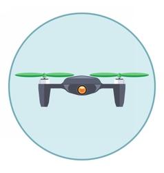 Digital silver drone with recording camera vector