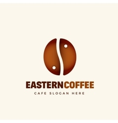 Eastern coffee abstract cafe logo template vector