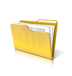 Folder with papers vector image vector image