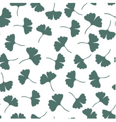 ginkgo leaves seamless pattern herbs background vector image
