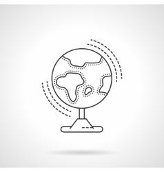 Globe flat line design icon vector image vector image