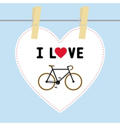 I love bicycle6 vector