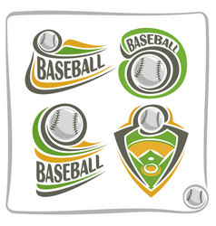 logo baseball ball vector image