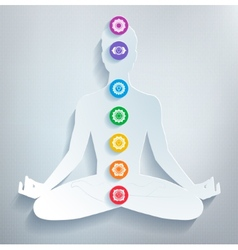 Meditation and chakras vector
