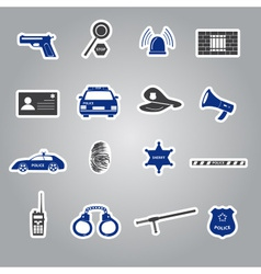 Police stickers set eps10 vector