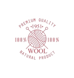 Premium quality wool product logo design vector