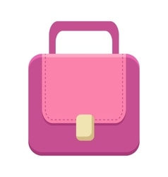 Purple ladies handbag vector