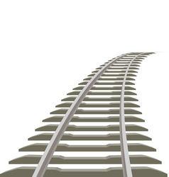 Railway line vector image vector image