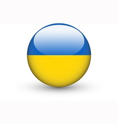 Round icon with national flag of Ukraine vector image vector image