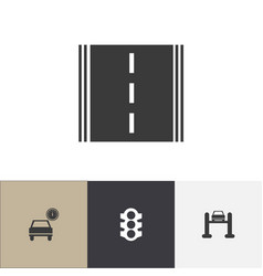 Set of 4 editable car icons includes symbols such vector