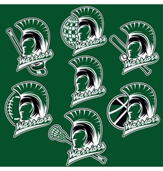 spartan warrior as emblem of sports teams vector image