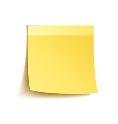 Sticky notes on white vector image vector image