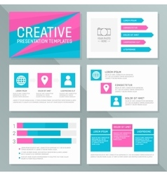 template for presentation slides with vector image