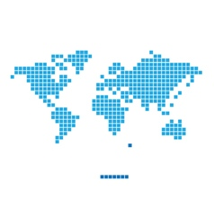 World pixel game design vector
