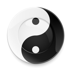 Yin yang plate vector image vector image