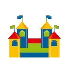 beautiful children playground icon vector image