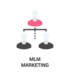 Mlm marketing icon vector