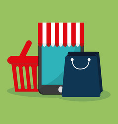online shopping related icons image vector image