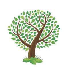 green tree concept hand drawn style vector image