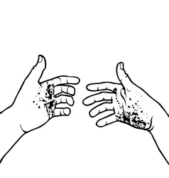 Dirty hands vector