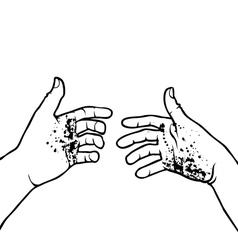 Dirty hands vector