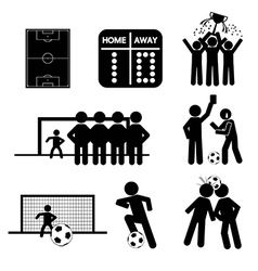Football or soccer icons vector