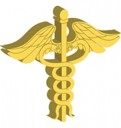Caduceus illustration vector
