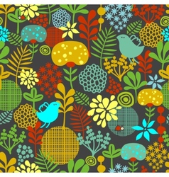 Eamless pattern with colorful birds vector