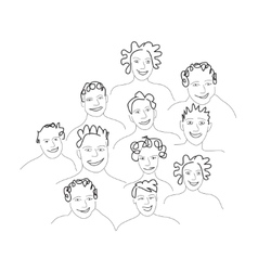 Group of men and women vector
